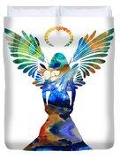 Healing Angel - Spiritual Art Painting Duvet Cover