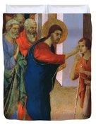 Healing The Man Born Blind Fragment 1311 Duvet Cover