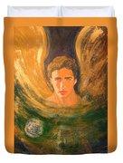 Healing With The Golden Light Duvet Cover