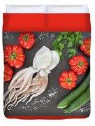 Healthy Diet Food Duvet Cover