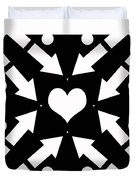 Heart And Arrows Duvet Cover