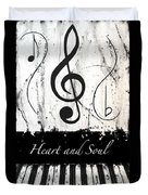 Heart And Soul - Music In Motion Duvet Cover