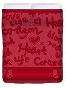Heart Art Duvet Cover