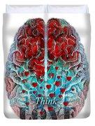 Heart Art - Think Love - By Sharon Cummings Duvet Cover