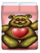 Heart Bear Duvet Cover