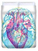 Heart Brain Duvet Cover