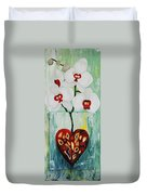 Heart In Bloom Duvet Cover