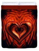 Heart In Flames Duvet Cover