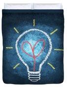 Heart In Light Bulb Duvet Cover