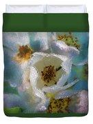 Heart Of A Dewy Flower Duvet Cover