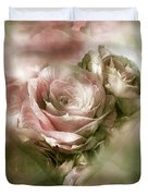 Heart Of A Rose - Antique Pink Duvet Cover