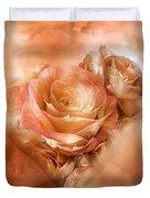 Heart Of A Rose - Gold Bronze Duvet Cover