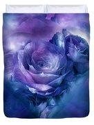 Heart Of A Rose - Lavender Blue Duvet Cover