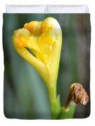 Heart Of Iris Duvet Cover