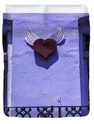 Heart On Wall Duvet Cover