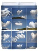 Heart Shaped Clouds - Collage Duvet Cover