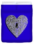 Heart Shaped Lock .png Duvet Cover