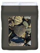 Heart Shaped Stone Loch Fyne  Duvet Cover