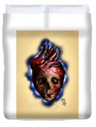 Heart Skull Duvet Cover