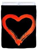Heart - Symbol Of Love - Watercolor Painting Duvet Cover