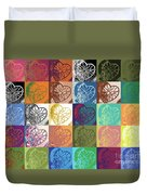 Heart To Heart Rendition 5x6 Equals 30  Duvet Cover