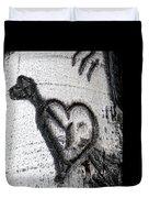 Heart Written In The Trees 3 Duvet Cover