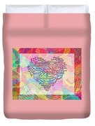 Heartfull Messages Duvet Cover