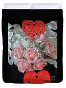Hearts And Roses Duvet Cover