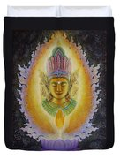 Heart's Fire Buddha Duvet Cover