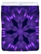 Hearts Of Purple Kaleidoscope Duvet Cover