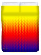 Heat Wave Abstract Design Duvet Cover