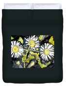 Heath Aster Flower Art Print Duvet Cover