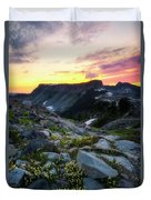 Heather Meadows Sunset Duvet Cover
