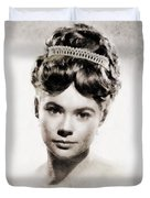 Heather Sears, Vintage Actress Duvet Cover