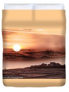 Heavenly City In The Sky Duvet Cover