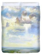 Heavenly Clouded Beauty Abstract Realism Duvet Cover