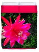 Heavenly Epiphyllum Orchid Cactus Duvet Cover