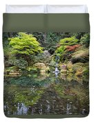 Heavenly Falls And The Swirly Lower Pond Duvet Cover