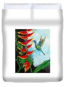Heavenly Heliconia Duvet Cover