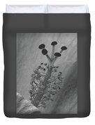 Heavenly Hibiscus Bw 13 Duvet Cover