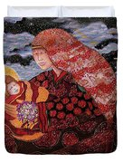 Heavenly Mother And Child Duvet Cover