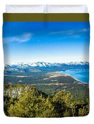 Heavenly South Lake Tahoe View 1 - Left Panel Duvet Cover