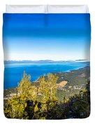 Heavenly South Lake Tahoe View 1 - Right Panel Duvet Cover