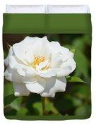 Heavenly White Rose Duvet Cover