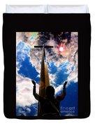 Heavens Prayers Duvet Cover