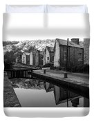Rochdale Canal, Yorkshire, England Duvet Cover