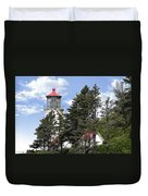 Heceta Head Lighthouse - Oregon's Iconic Pacific Coast Light Duvet Cover