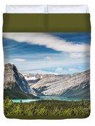 Hector Lake, Canadian Rockies Duvet Cover