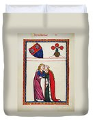 Heidelberg Lieder, 14th C Duvet Cover