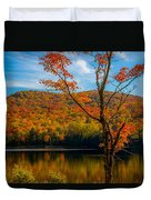 Heights Of Autumn Duvet Cover